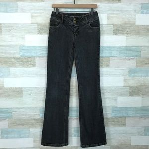 Faded Black Bootcut Jeans Mid Rise CAbi 895L